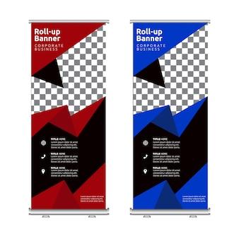 Fantastyczne roll-upy z niebieskimi i czerwonymi detalami