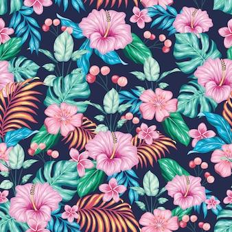 Fantastyczny kolorowy kwiatowy bez szwu