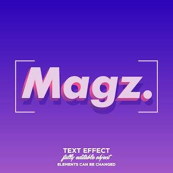 Fantastyczny styl tekstu 3d dla tytułu i plakatu lub tytułu