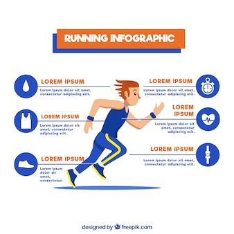 Fantastyczny szablon infograficzny z elementami człowieka i pomarańczowy