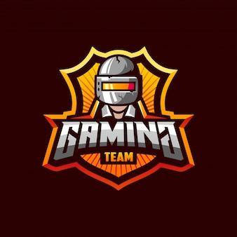 Fantastyczny szablon logo dla zespołu sportowego pubg gaming