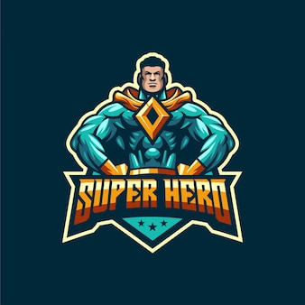 Fantastyczny szablon logo super bohatera