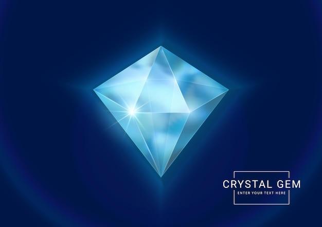 Fantasy kryształowe klejnoty jubilerskie, kamień w kształcie wielokąta jako zasób gry.