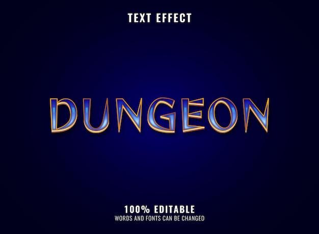 Fantasy złoty diament loch rpg efekt tekstowy logo gry