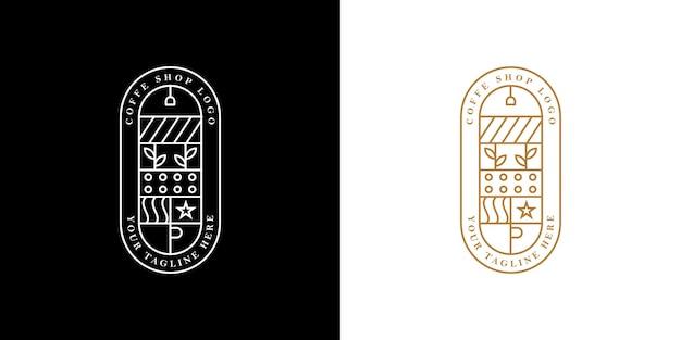 Fantazyjne logo linii do kawiarni