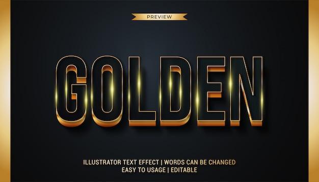 Fantazyjne złote efekty tekstowe