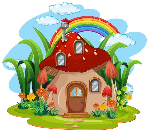 Fantazyjny dom grzybowy