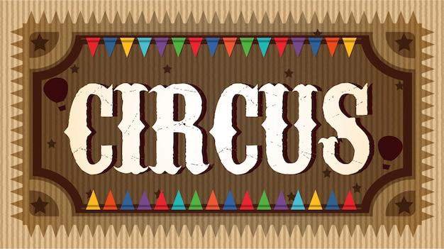 Fantazyjny drewniany znak cyrku