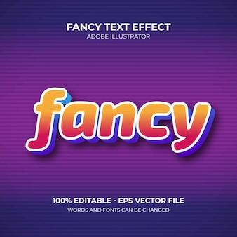 Fantazyjny efekt tekstowy edytowalny szablon