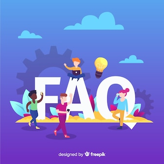 Faq koncepcja tło