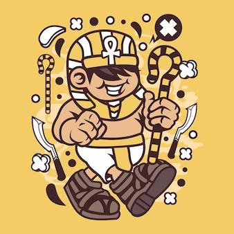 Faraon kid cartoon