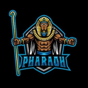 Faraon maskotka logo esport gaming