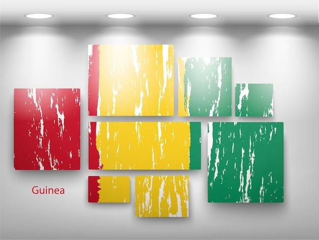 Farba flagowa w galerii. ilustracja wektorowa
