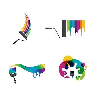 Farba logo szablon wektor ikona ilustracja projekt