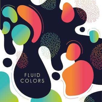 Farba płynne kolory tła