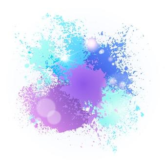Farba splash color festival happy holi india holiday tradycyjne uroczystości powitanie koszyka
