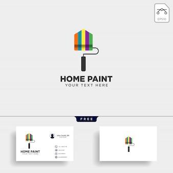 Farba szczotka kolorowy logo szablon wektor element ikona