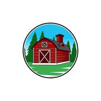 Farma dom rolnictwo vintage trawa