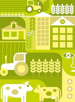 Farma - ilustracji wektorowych
