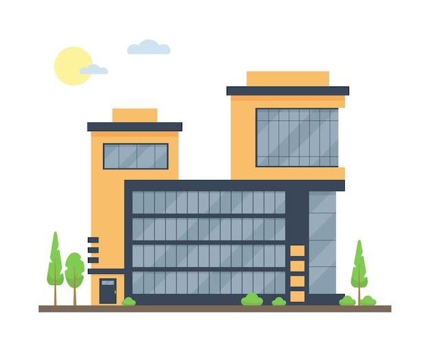 Fasada apartamentowca centrum biznesowego i handlowego lub hotelu