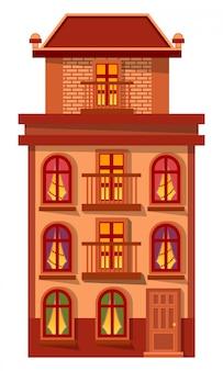 Fasada domu wykonana z cegły