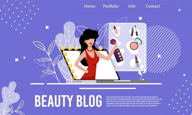 Fashion cosmetics review beauty blog landing page