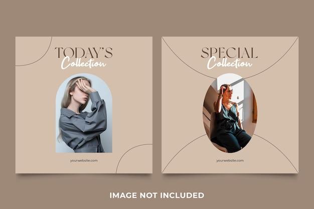 Fashion instagram post kolekcja specjalna wektor premium
