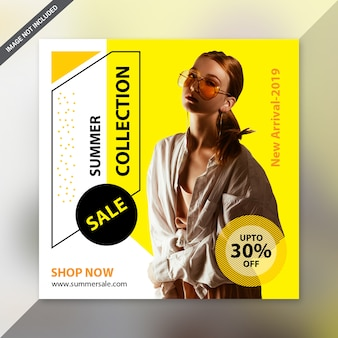 Fashion post social media design
