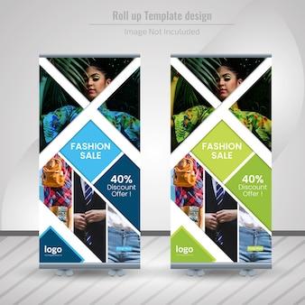 Fashion roll up banner design