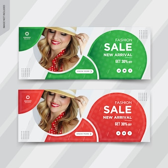Fashion sale facebook cover post design