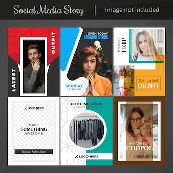 Fashion social media post template for marketing