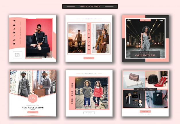 Fashion square banner or instagram post template