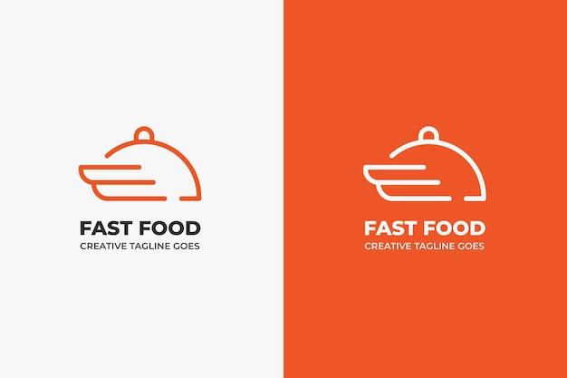 Fast delivery food restaurant business logo