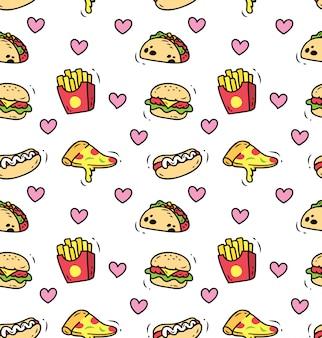 Fast food bezszwowe tło
