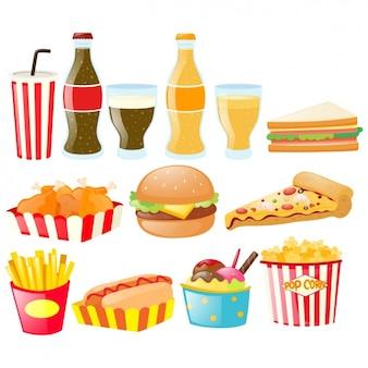 Fast food elementy kolekcji