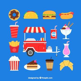 Fast food ikony