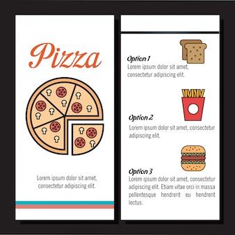 Fast food restauracja menu na białym tle ikona