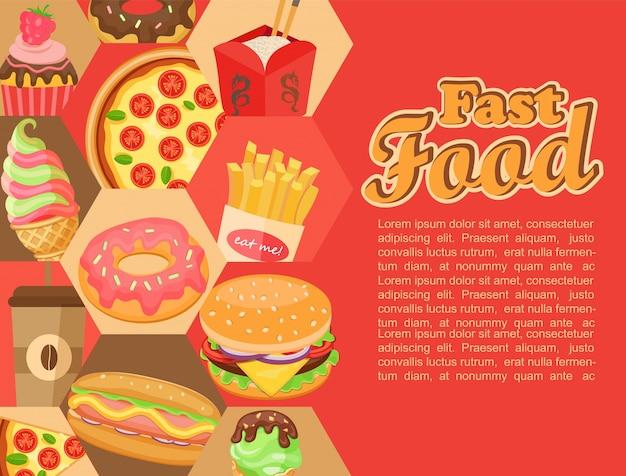 Fast food, wektorowe.