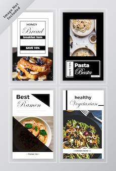 Fast foody banery społeczne post-szablon zestaw