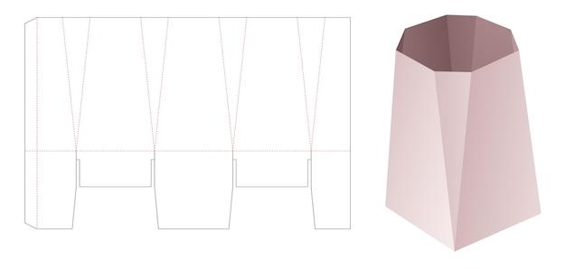 Fazowany szablon do wycinania pudełek na artykuły biurowe