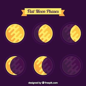 Fazy księżyca w płaskiej konstrukcji