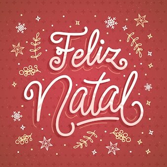 Feliz natal napis ilustracja