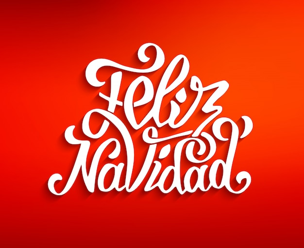 Feliz navidad napis. życzenia wesołych świąt