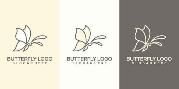 Feminim streszczenie szablon logo motyl