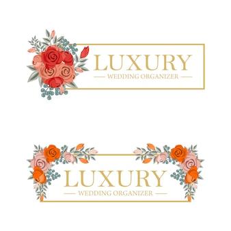 Feminine floral szablon szablonu dla organizatora ślubu