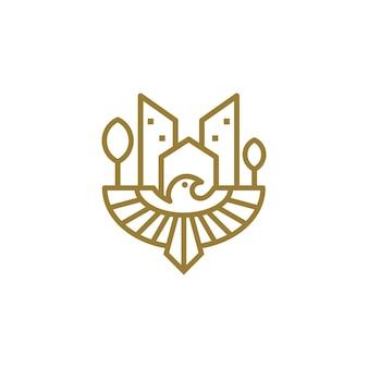 Feniks rozwoju logo szablon wektor ilustracja