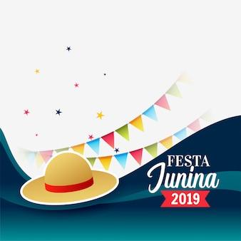 Festa junina brazil święto powitanie festiwalu