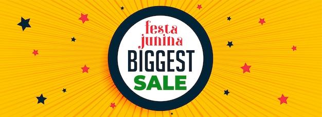 Festa junina festiwal sprzedaży banner