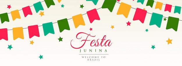 Festa junina flagi wianek dekoracji banner