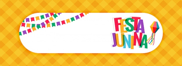 Festa junina karnawałowy sztandar z przestrzenią tekstową